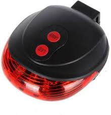 Star Bike and Bicycle 2 <b>Laser Beam</b> and <b>5 LED</b> Rear Break Light ...