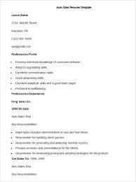 sales resume template free samples examples format auto sales resume