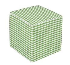 Homescapes Green <b>Cube Cotton</b> Gingham Che- Buy Online in ...