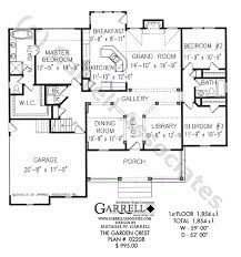 Garden Crest House Plan   Active Adult House Plansgarden crest house plan   st floor plan