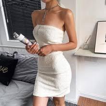 SRDP плюшевое бархатное белое <b>мини</b>-<b>платье без бретелек</b> на ...