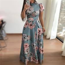 Women <b>Summer Dress 2019</b> Casual Short Sleeve Long <b>Dress</b> Boho ...