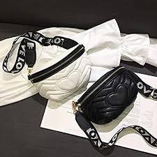 MZDHYB Waist <b>Bag</b> Waist <b>Bag Female</b> Black White Waist <b>Bag</b> ...