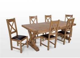 cream compact extending dining table: natural oak extendable dining table and six chairs athens ez living