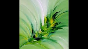 <b>Green Explosion</b>, abstract painting, Acrylic, abstrakte Malerei mit ...