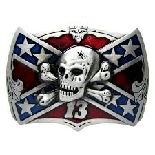lucky number 13 <b>belt</b> buckle skull crossbones flag enamel metal ...