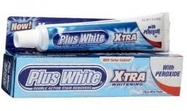 Plus White Whitening Toothpaste <b>Xtra Whitening With</b> Peroxide - 2oz