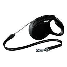<b>Рулетка FLEXI New CLASSIC</b> трос M, 5 м, 20кг, черный — купить ...