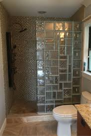 ideas shower systems pinterest: multi patterned glass block mosaic shower wall design in orlando florida