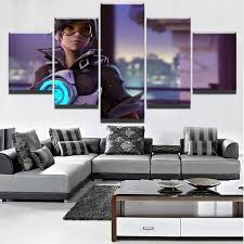 <b>5 Piece</b> Home Decorative Overwatch Tracer Canvas Painting ...