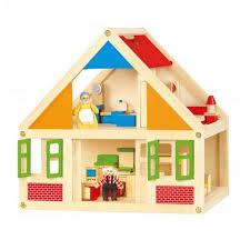 Развивающая деревянная игрушка Viga Toys Кукольный домик ...