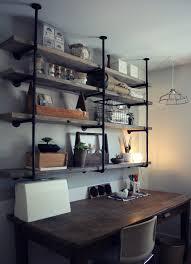 wondrous home office dessign idea rustic industrial shelves beautiful rustic home office desks introducing