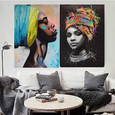 Decor Africa <b>girl</b> beauty <b>woman canvas</b> oil <b>painting portrait</b> africa <b>girl</b> ...