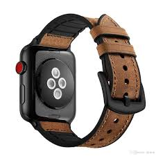 Hybrid Sports <b>Band</b> Rubber And <b>Leather</b> For Apple <b>Watch</b> Vintage ...