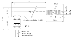 Inductive linear displacement transducers Model <b>IW250</b> Measuring ...