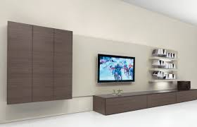 alluring living room storage unit design in dark grey wooden long cabinet and wall mounted square bespoke wall storage