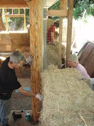 Timber Frame and Straw BaleThe biggest secret to timber frame and bale unions is to be sure to create a tight joint between the two different materials  wood and straw plaster