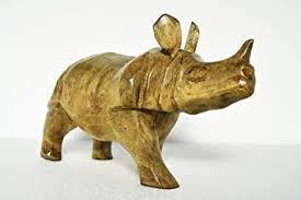 "Buy Art and Crafts-<b>Home Decor</b> Item ""<b>Rhino</b>""9.5 Inch – <b>Wooden</b> ..."