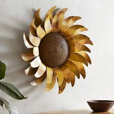 mirror wall decor circle panel: sunflower metal wall decor   sunflower metal wall decor