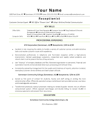 resumes for receptionists medical front office assistant resume resume examples summary of skills and previous work summary on medical unit secretary resume sample medical
