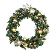 <b>Royal</b> Gold <b>Battery</b> Operated <b>LED</b> Wreath, Warm White <b>Lights</b> ...