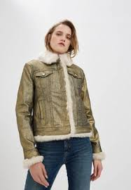 Купить Золотистые женские <b>джинсовые</b> куртки в интернет ...