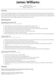 business analyst resume sample resumelift com