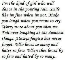 Im The Kinda Girl Quotes. QuotesGram via Relatably.com