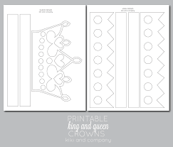 printable kings and queens crown printable the crafting save