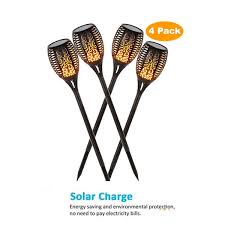 2019 <b>Solar 33 LED</b> Lawn Flame Torch Lights Wireless Easy Install ...