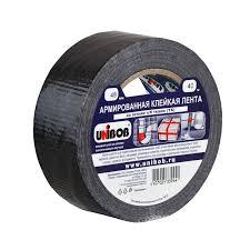 <b>Лента</b> клейкая <b>Unibob Армированная</b>, 48 мм х 40 м, черная ...