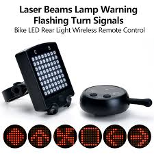 Rechargeable <b>Bike</b> Rear Tail Light <b>Bicycle Turn</b> Signals Safety ...