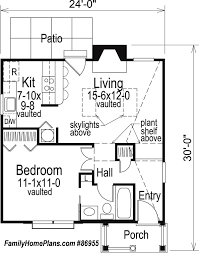 Small Cabin House Plans   Small Cabin Floor Plans   Small Cabin    quaint small cabin house plan by family home plans
