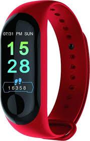 Купить фитнес-<b>браслет</b> TipTop M3MYDEVICE, красный по низкой ...