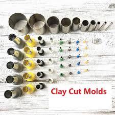10/<b>40Pcs</b>/Set <b>Clay</b> Cut Molds <b>Pottery</b> Ceramics Tools Steel+Plastic ...