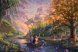 Ceaco 2903-25 <b>Thomas Kinkade</b> The Disney Collection <b>Pocahontas</b> ...