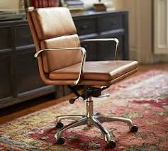 quicklook antique leather swivel desk chair