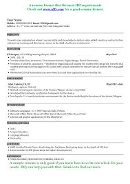 Resume Samples For Freshers Free Download     BNZY