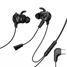 In-ear headphones with microphone Type C for mobile games ...