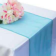 <b>30x275cm Organza</b> Table Runner <b>Soft Sheer Fabric</b> For Wedding ...