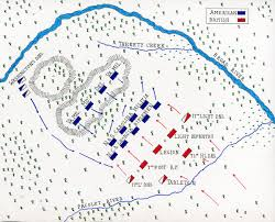 battle of cowpens map of the battle of cowpens on 17th 1781 in the american revolutionary war