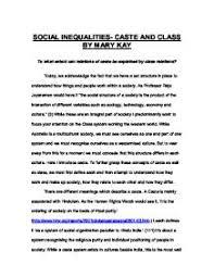 identity essay   gcse sociology   marked by teacherscom social inequalities  caste and class