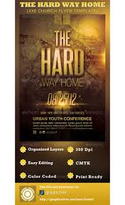 the hard way home church flyer template com the hard way home church flyer template