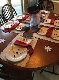 household dining table set christmas snowman knife: snowman place setting   snowman place setting