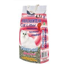 """Наполнитель """"<b>Pussy</b>-<b>cat</b>"""" для кошачьего туалета, древесный, 4,5 л"""