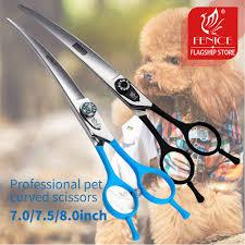 <b>Fenice</b> 7.0 7.5 8.0 Inch <b>Professional</b> Black Grooming Scissors ...