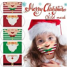 2020 New Funnt <b>Christmas Santa Print</b> Unisex Face Masks ...