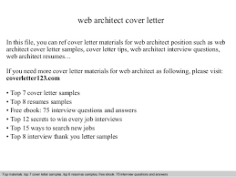web architect cover letterweb architect cover letter in this file  you can ref cover letter materials for web