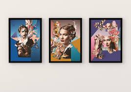 "<b>Набор из 3</b> - <b>х</b> картин <b>постеров</b> Artency, ""Au revoir, Mademoiselle ..."