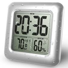 <b>LCD Digital</b> Screen Wall Clock <b>Waterproof</b> Shower Timer ...